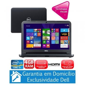 Notebook Inspiron I14-3421-A10 com Intel® Core i3-3217U, 4GB, 1TB, Gravador de DVD, Leitor de Cartões, HDMI,Bluetooth,