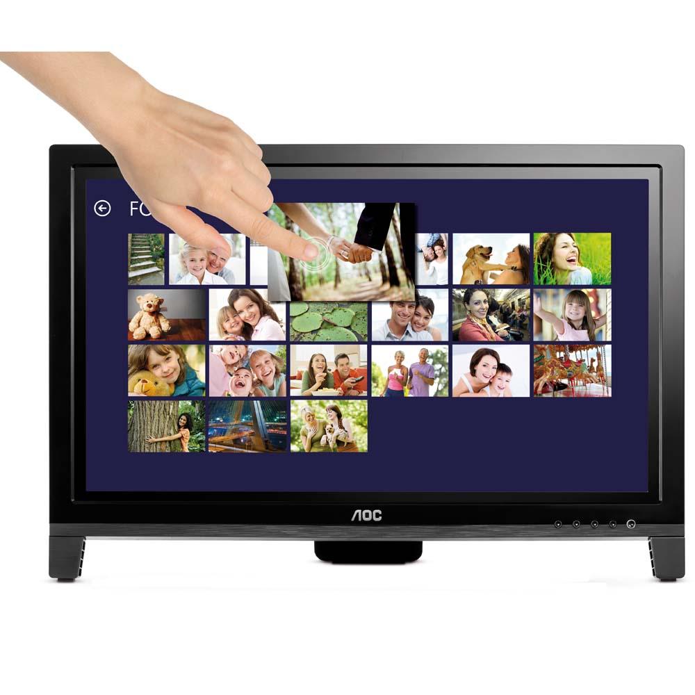 Monitor LED 19,5 Touch Screen Dois Pontos E2060VWT - AOC
