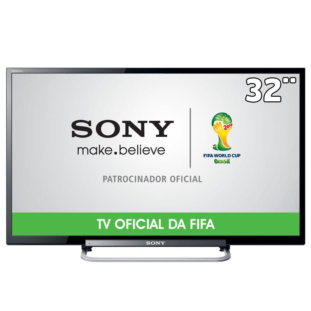 TV LED 32 HD KDL-32R434A Com Motionflow 120HZ,Rádio FM,Conversor Digital e Entradas HDMI e USB - Sony