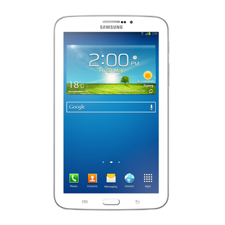 Tablet Galaxy Tab 3 SM-T211M DTV Android 4.1 Wi-Fi + 3G + TV Digital Tela 7 Branco 8GB - Samsung