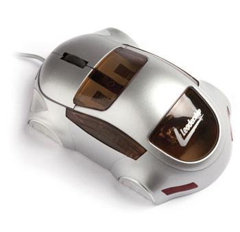 Mouse carro optico usb cinza 7548 - Leadership