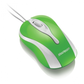 Mouse Usb Colors Green MO144 - Multilaser