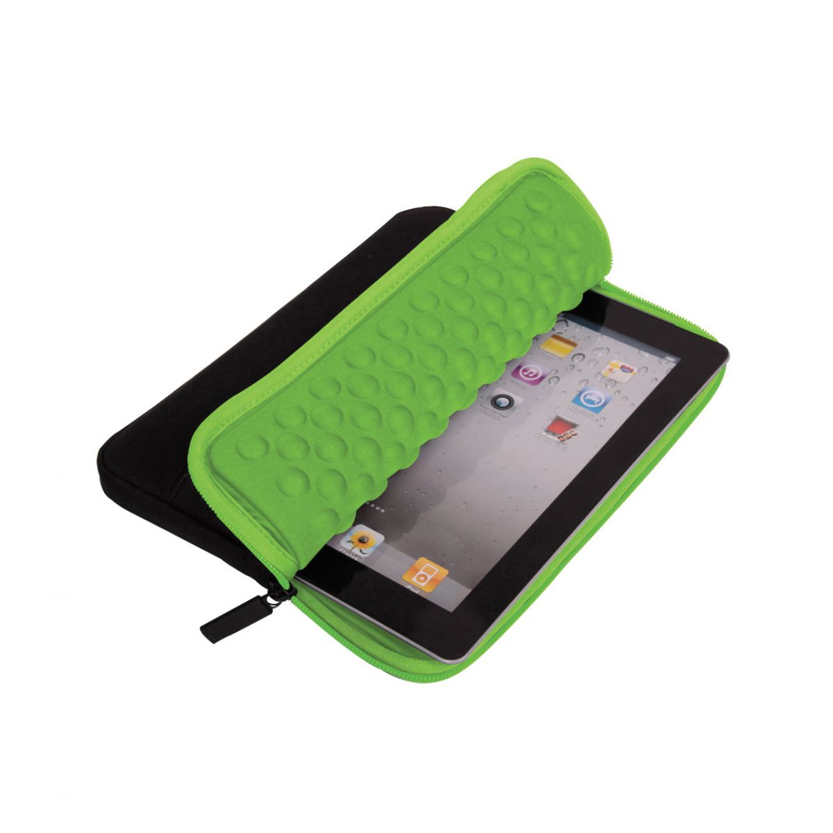 Case Bubbles Preto/Verde 7 Polegadas 0557 - Leadership