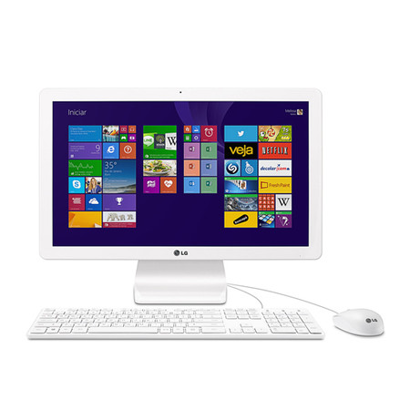 All in One Intel Quad Core N2910, 4GB, HD 500GB, Windows 8.1, Tela 21.5 IPS Full HD, Wi-Fi, Webcam 1.0MP 22V240 - LG