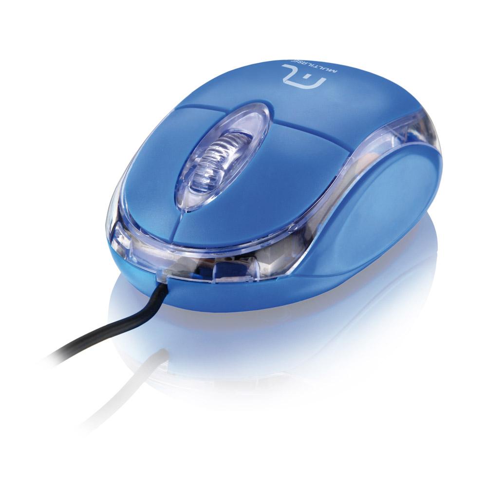 Mouse USB Classic Optico Azul MO001 - Multilaser