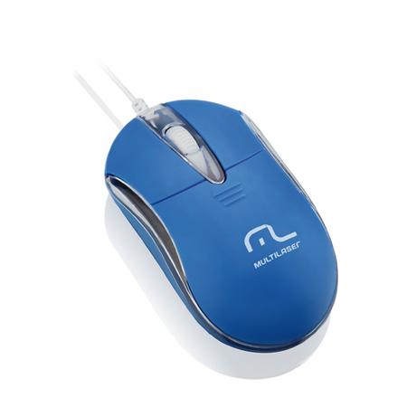 Mouse Óptico USB Classic 2 Azul MO171 - Multilaser