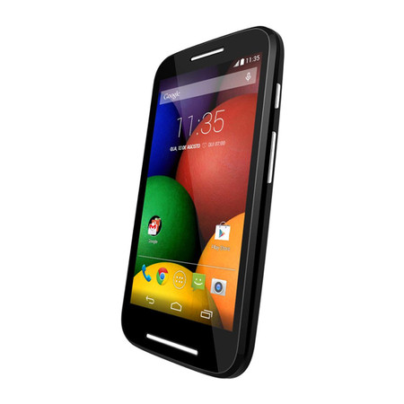Smartphone Moto E Colors XT1025 Preto, Android 4.4, Dual Core 1.2GHz, 4.3´,TV, 4GB, 5MP, WIFI, 3G, Dual Chip - Motorola