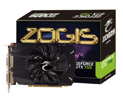Placa de Vídeo GeForce GTX750 1GB DDR5 128Bits ZOGTX750-1GD5 - Zogis