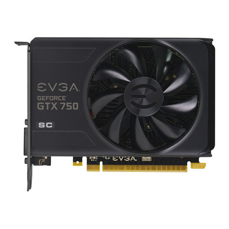 Placa de Vídeo Geforce GTX750 2GB DDR5 128Bit 02G-P4-2754-KR - EVGA