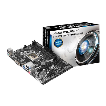 Placa Mãe LGA 1150 H81M-HG4 (S/V/R) - AS-ROCK