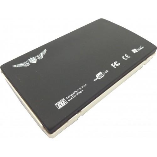Case 2,5 USB Sata até 1TB IMM de Alumínio com Capa Preto/Branco CS0004 - Fly Ace