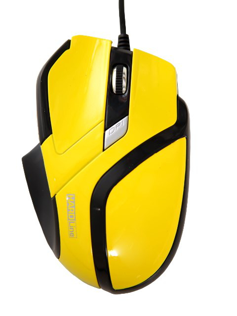 Mouse Gaming MS26 USB Amarelo/Preto 2400DPI - Hardline