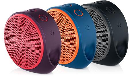 Caixa de Som Bluetooth X100 Vermelha / Roxo 984-000389 - Logitech