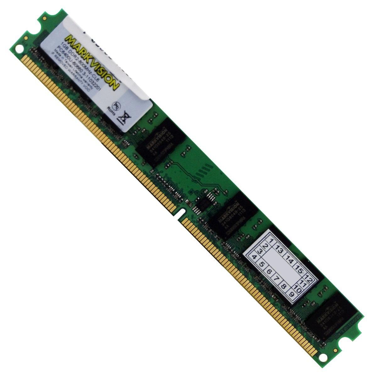 Memória de 2GB DDR2 800Mhz CL6 MVMB2G48SOX16C6-37650 - Markvision