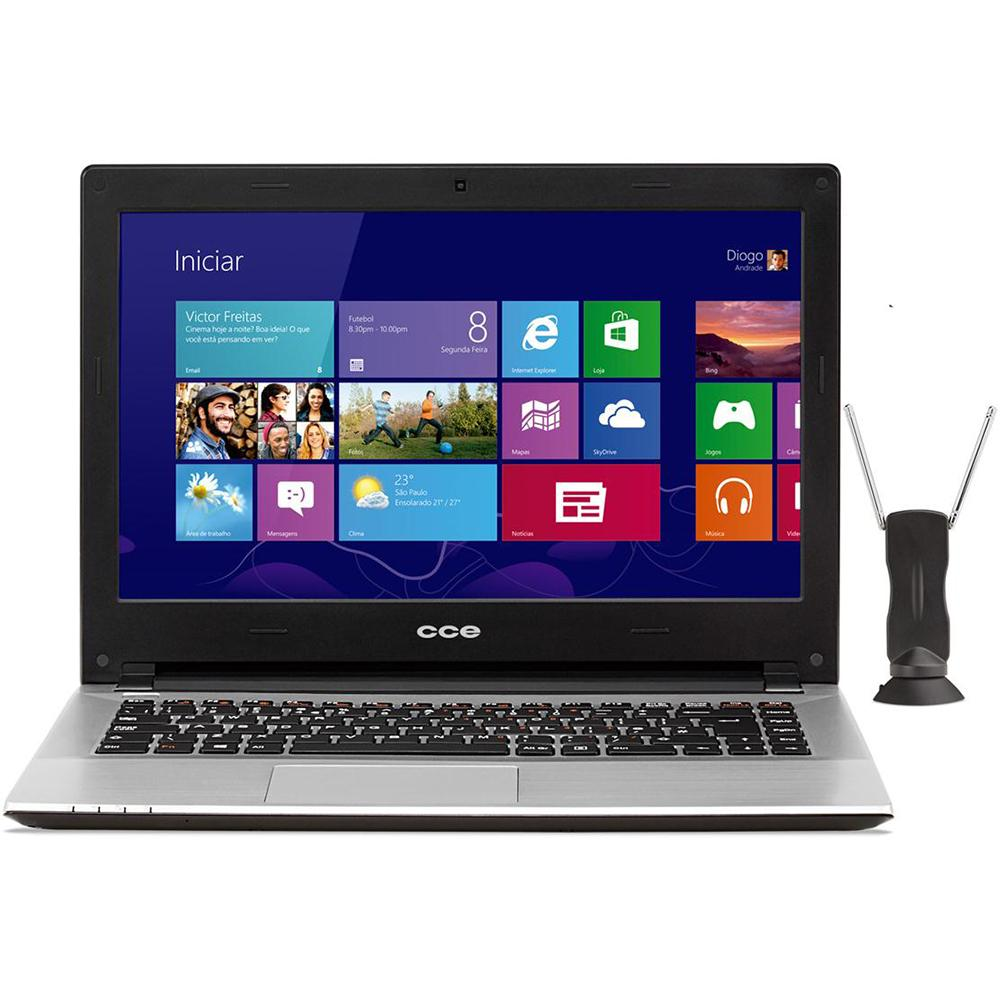 Notebook HT345TV Intel Core i3 Memória 4GB HD 500GB Tela 14 Touchscreen com TV Digital Windows 8 - CCE