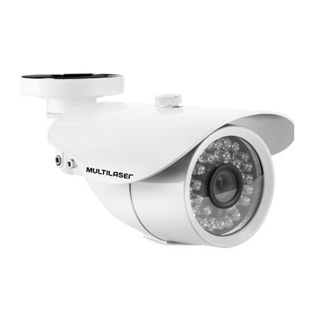 Câmera Externa Sensor Sony CCD 1/3 Infravermelho 25m Anti Vandalismo SE004 Branca - Multilaser