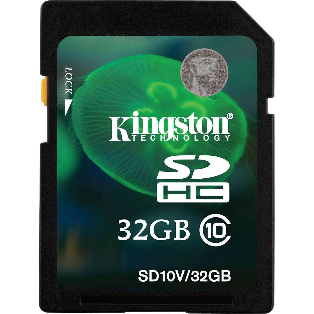 Cartão de Memória 32GB SDHC HD Video Class 10 SD10V/32GB - Kingston