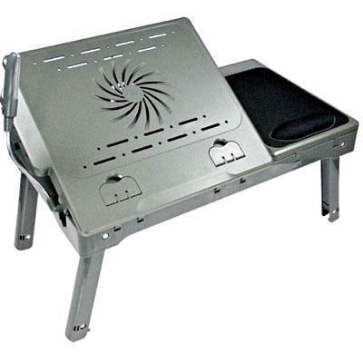 Mesa p/ Notebook com HUB USB + Iluminação + Cooler 9108 - Leadership