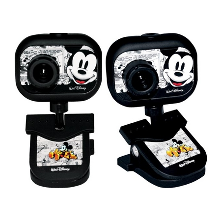 Webcam 2.0 MP USB Mickey 10024 Preta - Clone