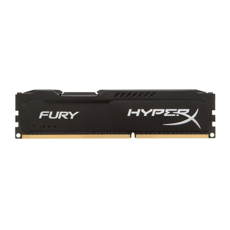 Memória HyperX 4GB 1600MHz DDR3 CL10 DIMM HyperX FURY Black Series HX316C10FB/4 - Kingston