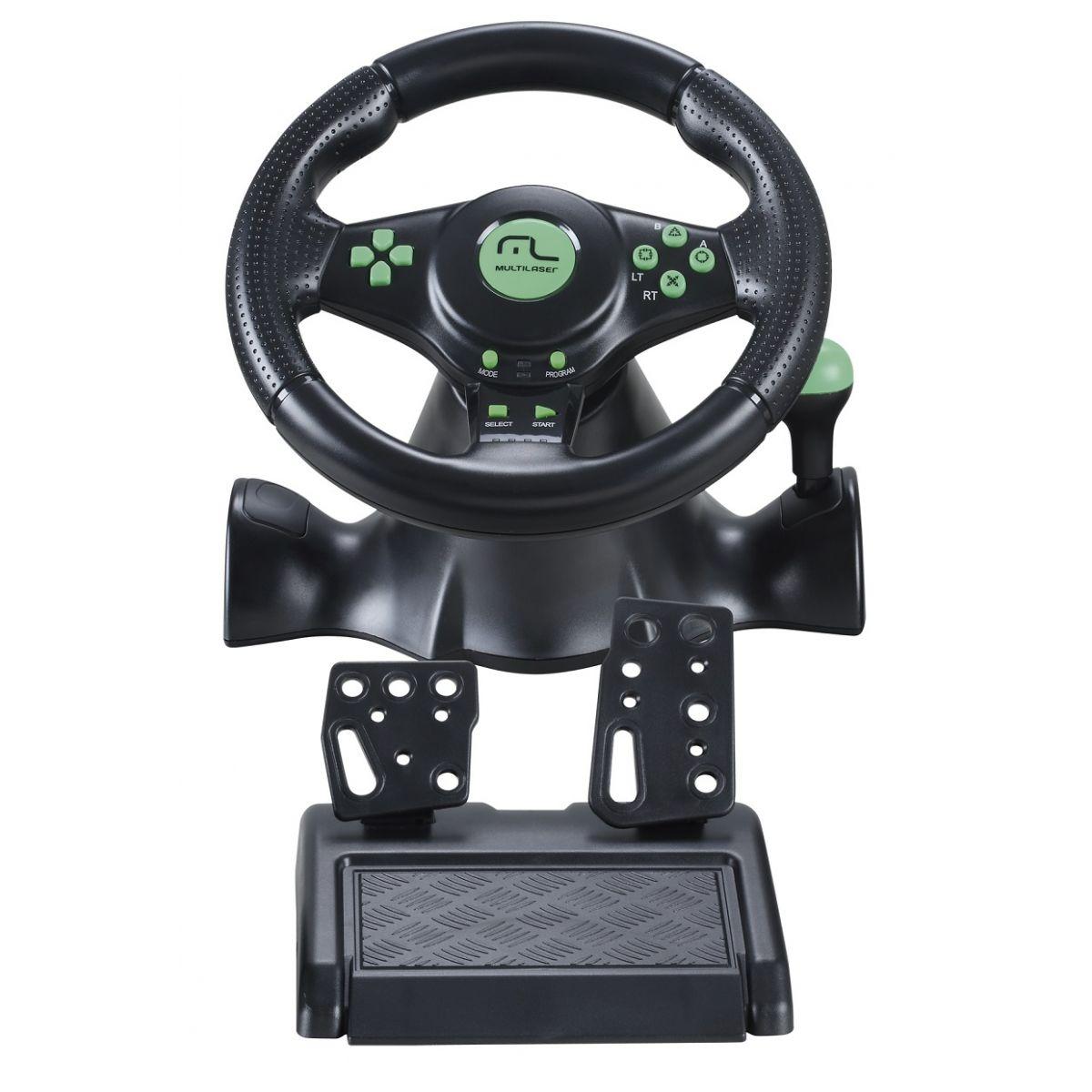 Volante Racer 4 em 1 Xbox360 / PS3 / PS2 / PC com Marcha Acoplada JS075 - Multilaser