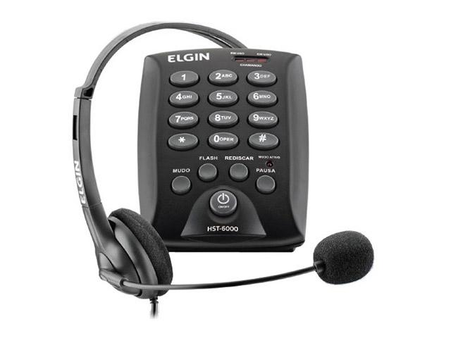 Telefone c/Headset HST-6000 - Elgin