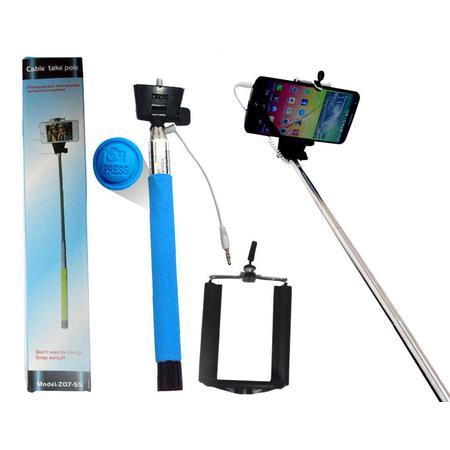 Suporte para Selfie Com Conexão P2 Azul TP0004AZ