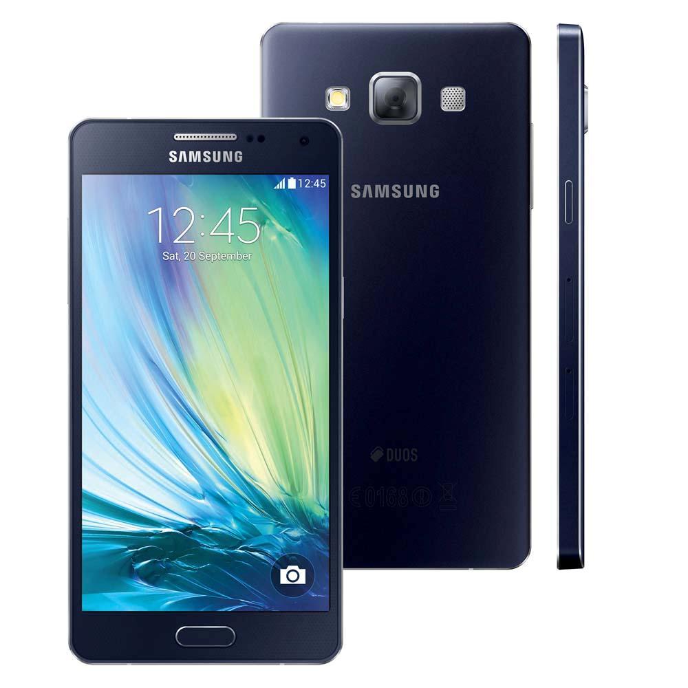 Smartphone Galaxy A5 Duos Dual Chip 4G Android 4.4 Câm. 13MP Tela 5 Proc. Quad Core Preto SM-A500M/DS - Samsung