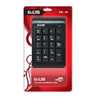 Teclado Numérico USB TN-01 Preto - Evus