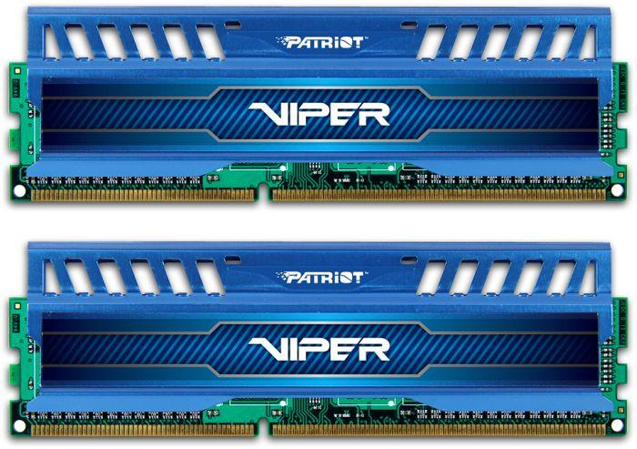 Memória Viper3 16GB (2X8GB) DDR3 1866Mhz PV316G186C0KBL - Patriot