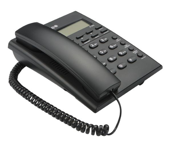 Telefone de Mesa K302 com Identificador de Chamadas e Despertador - Keo