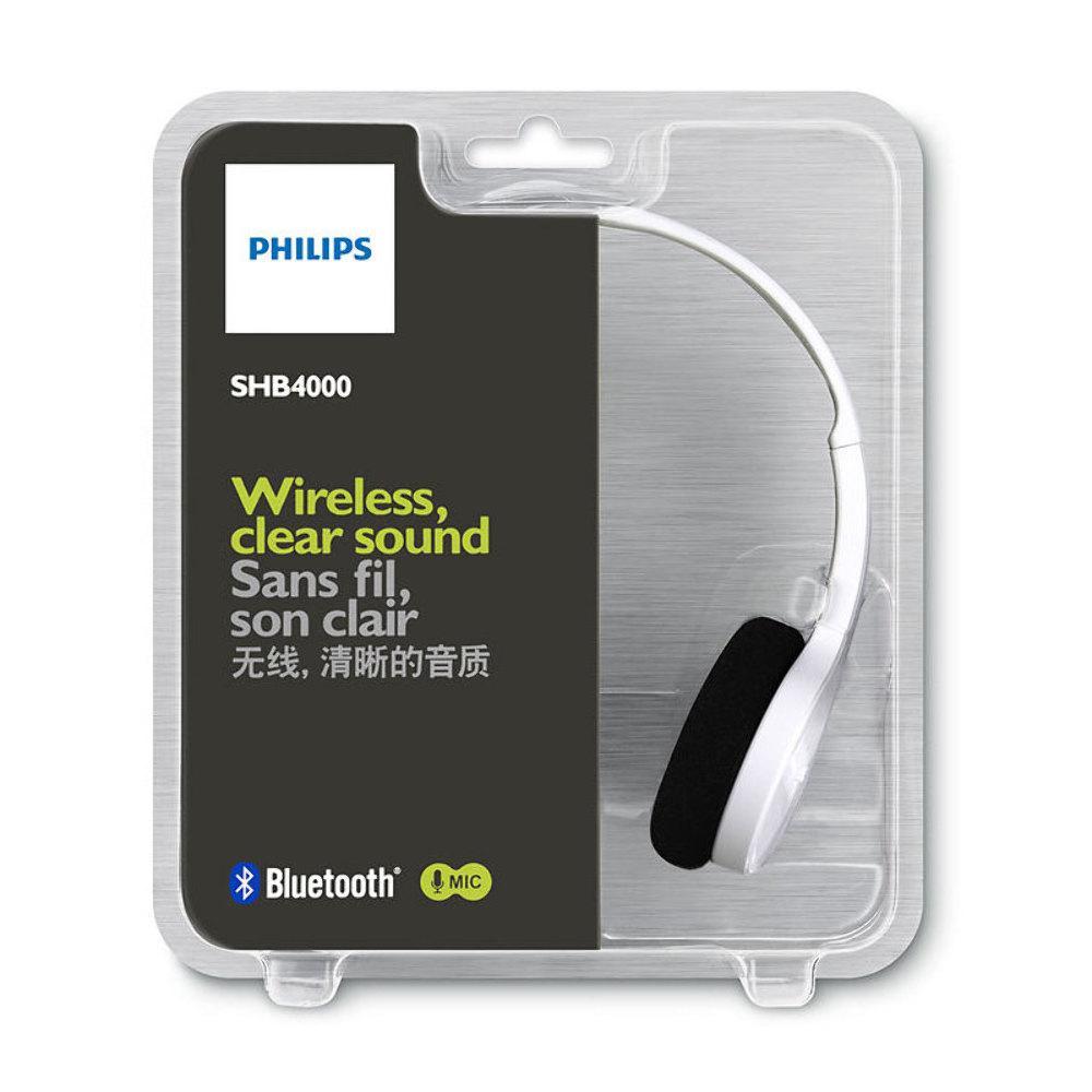 Fone de Ouvido SHB4000WT/00 Headset estéreo Bluetooth Branco - Philips