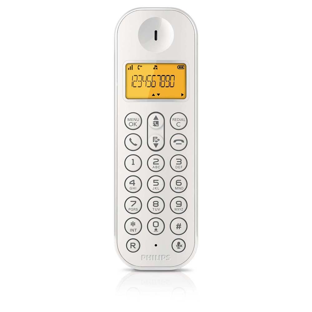 Telefone sem Fio c/ Identificador de chamadas D1201W/BR Branco - Philips