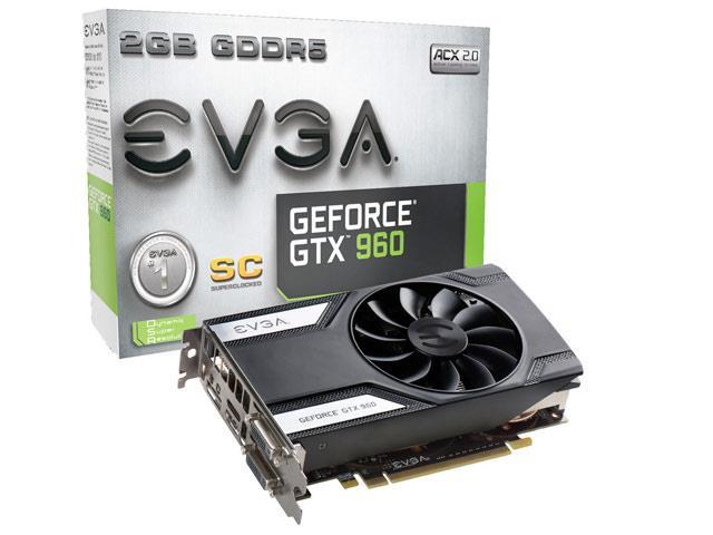 Placa de Vídeo Geforce GTX960 SC 2GB 128Bit 02G-P4-2962-KR - EVGA