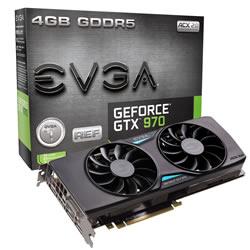 Placa de Vídeo GeForce GTX970 4GB DDR5 ACX 04G-P4-3973-KR - EVGA