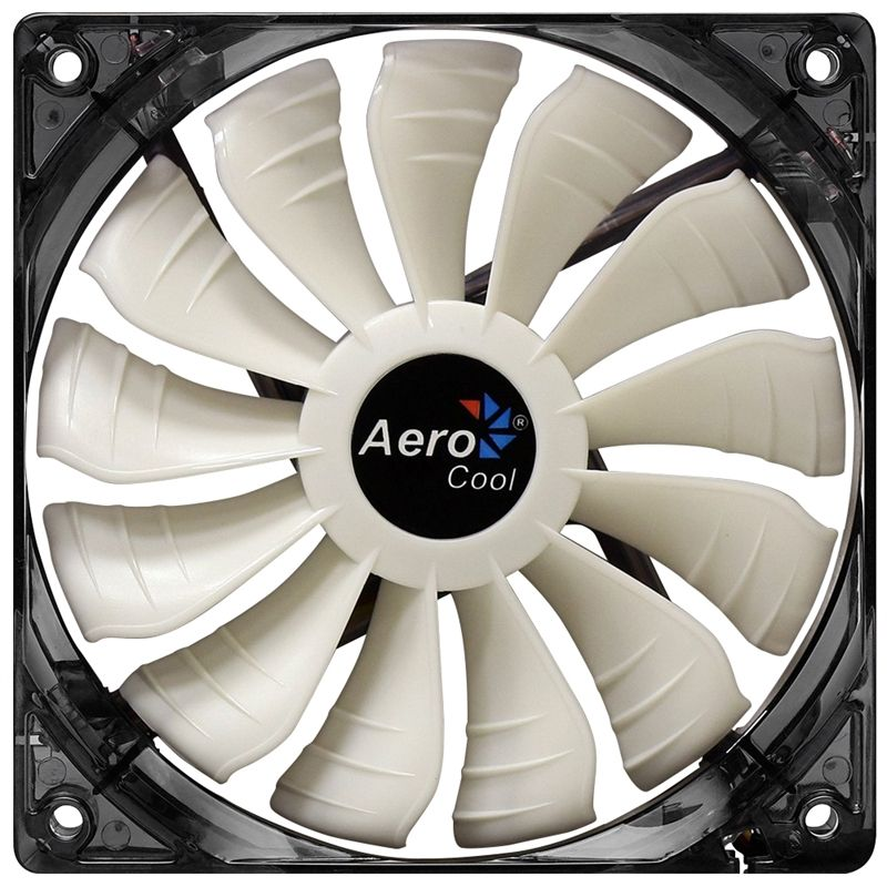 Cooler para Gabinete 14CM LED Branco AIR FORCE EN51516 - Aerocool