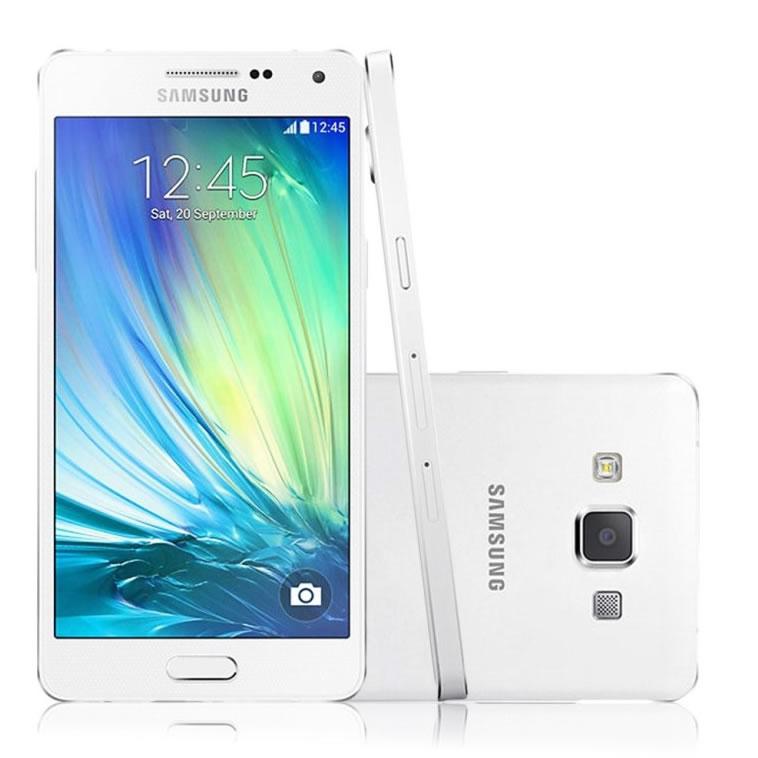 Smartphone Galaxy A3 A300M, Quad Core, Tela 4.5, 16GB, 8MP, 4G, Dual Chip, Branco - Samsung