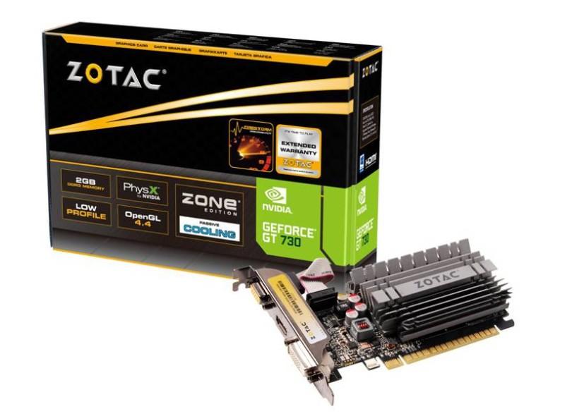 Placa de Vídeo Geforce GT730 Zone Edition 2GB 64Bit ZT-71113-20L - Zotac