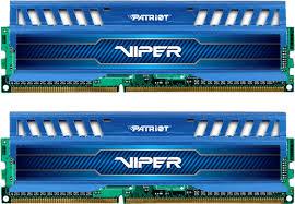 Memória Viper 3 8GB (2x4GB) DDR3 1600Mhz PV38G160C9KBL Azul - Patriot