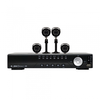 Kit de Vigilancia Digital CFTV DVR 8 Canais C/4 Cameras CMOS DK8-C1804CM (17680-4) - Vonnic