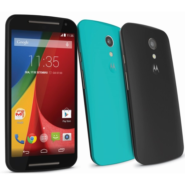 Smartphone Moto G 2ª Geração TV XT1069 Colors, Quad Core, Android 4.4, Tela HD 5, 16GB, 8MP, 3G, Dual Chip Preto - Motorola