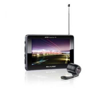 GPS tracker 2 5 polegadas C/AV IN+ TV + FM + Câmera de Ré GP037 ( GP016) - Multilaser
