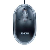 Mouse Ótico USB Preto MO-01 - Evus