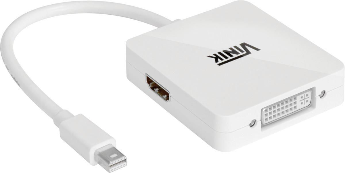 Adaptador 3 em 1 Mini Displayport para HDMI/DVI/Displayport MDP-3IN - Vinik