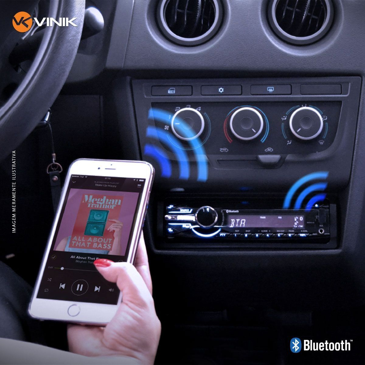 Adaptador Bluetooth 3.0 Automotivo ABTC-100 26316 - Vinik