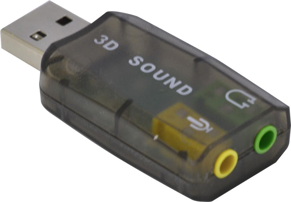 Adaptador de som USB 5.1 Canais Virtual AUSB51 - Vinik