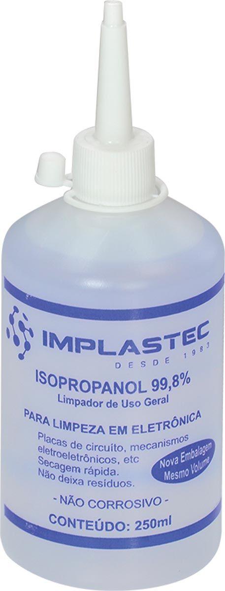 Álcool Isopropílico 250ml com Bico Aplicador 24322 - Implastec
