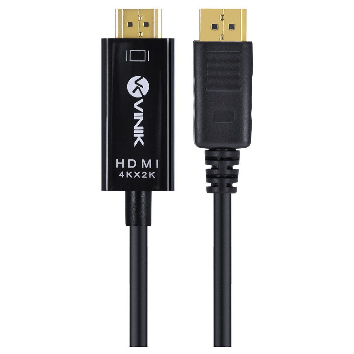 Cabo Displayport 1.3v para HDMI 2.0 4K 30Hz Ultra HD 2 Metros H20DP13-2 29258 - Vinik