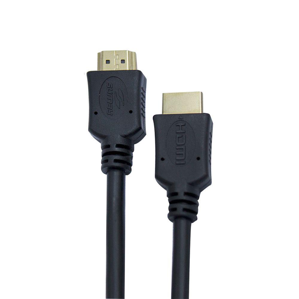 Cabo HDMI v2.0 4K Preto 5 Metros SM-HDM50S - Sumay