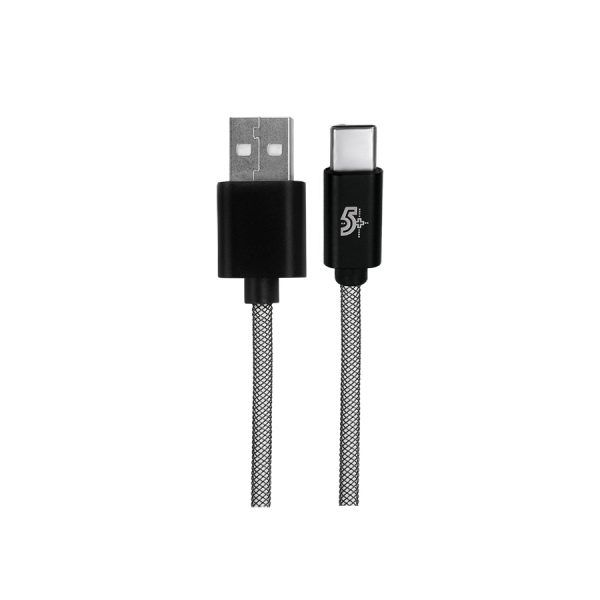Cabo Sync & Charge Black Series USB C 1 Metro 018-0192 - Chipsce